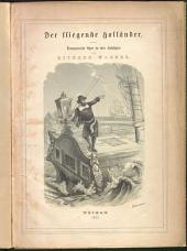 Der fliegende Holländer: romantische Oper in drei Aufzügen