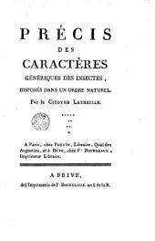 Précis des caractères génériques des insectes disposés dans un ordre naturel