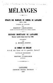 Mélanges: comptes de la châtellenie de Chillon du 24 février 1402 au 23 février 1403. Subside accorde au comte de Savoie dans la mème châtellenie en 1402