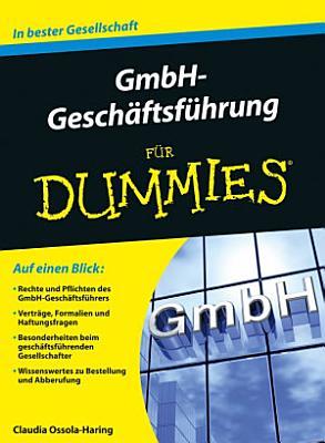GmbH Gesch  ftsf  hrung f  r Dummies PDF