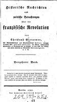 Historische Nachrichten und politische Betrachtungen   ber die Franz  sische Revolution PDF