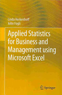 Applied Statistics for Business and Management using Microsoft Excel PDF