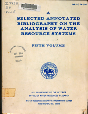 A Selected Annotated Bibliography on the Analysis of Water Resource Systems PDF