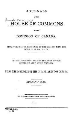 Journals of the House of Commons of the Dominion of Canada PDF