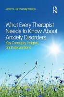 What Every Therapist Needs to Know About Anxiety Disorders PDF