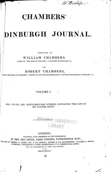 Chambers  Edinburgh Journal PDF