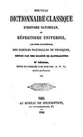 Nouveau dictionnaire classique d'histoire naturelle; ou, Répertoire universel des sciences naturelles et physiques: Volume40