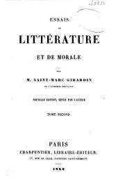 Essais de littérature et de morale: Mélanges d'histoire religieuse. Mélanges de morale. Mélanges d'histoire politique. Mélanges de littérature