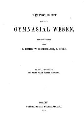 Sokrates  Zeitschrift f  r das Gymnasialwesen PDF