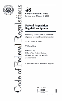 Code of Federal Regulations  Title 48