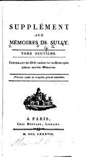 Mémoires de Maximilien de Béthune, duc de Sully, principal ministre d' Henri le Grand: Volume9