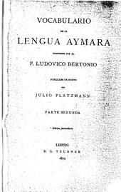 Vocabulario de la lengua aymara: Volume 2