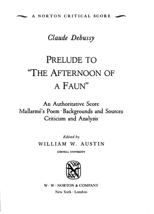 Claude Debussy: Prelude to