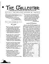 The Collector: A Monthly Magazine for Autograph and Historical Collectors, Volume 10, Issue 11