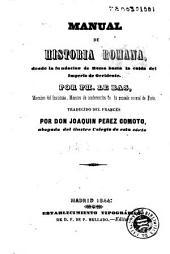 Manual de historia romana: desde la fundacion de Roma hasta la caida del Imperio de Occidente