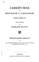 Neue Jahrb  cher f  r Philologie und P  dogogik PDF
