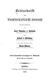 Zeitschrift für wissenschaftliche Zoologie: Band 33
