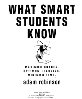 What Smart Students Know Book