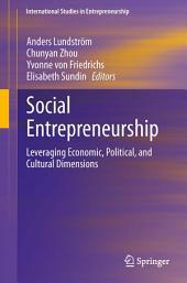 Social Entrepreneurship: Leveraging Economic, Political, and Cultural Dimensions
