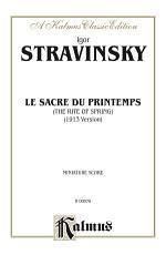 Le Sacre du Printemps  The Rite of Spring  PDF