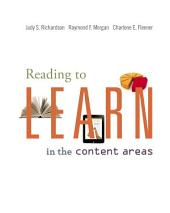 Reading to Learn in the Content Areas: Edition 8