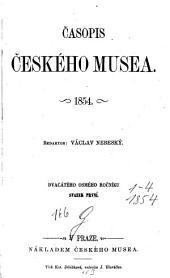 Časopis Českého Musea: Svazek 28