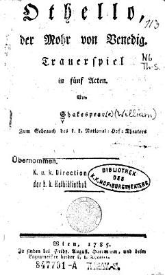 Othello  der Mohr von Venedig PDF