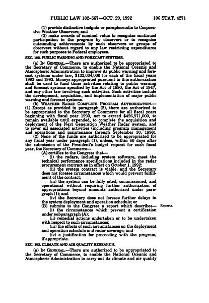 National Oceanic And Atmospheric Administration Authorization