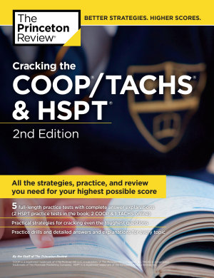Cracking the COOP TACHS   HSPT  2nd Edition