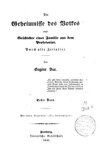 Die Geheimnisse des Volkes oder Geschichte einer Familie aus dem Proletariat PDF