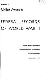 Federal Records of World War II.