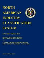 North American Industry Classification System  NAICS  Reprint United States 2017 Edition PDF