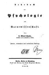 Lehrbuch der Psychologie als Naturwissenschaft ... Zweite, vermehrte und verbesserte Auflage