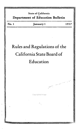 Rules and Regulations of the California State Board of Education PDF