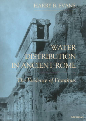 Water Distribution in Ancient Rome PDF