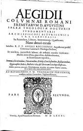 In Secundum Librum Sententiarum Quaestiones: Quincuplici Indice, Auctoris vita, et librorum Catalogo illustratae, ...