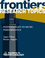 Individuality in music performance PDF