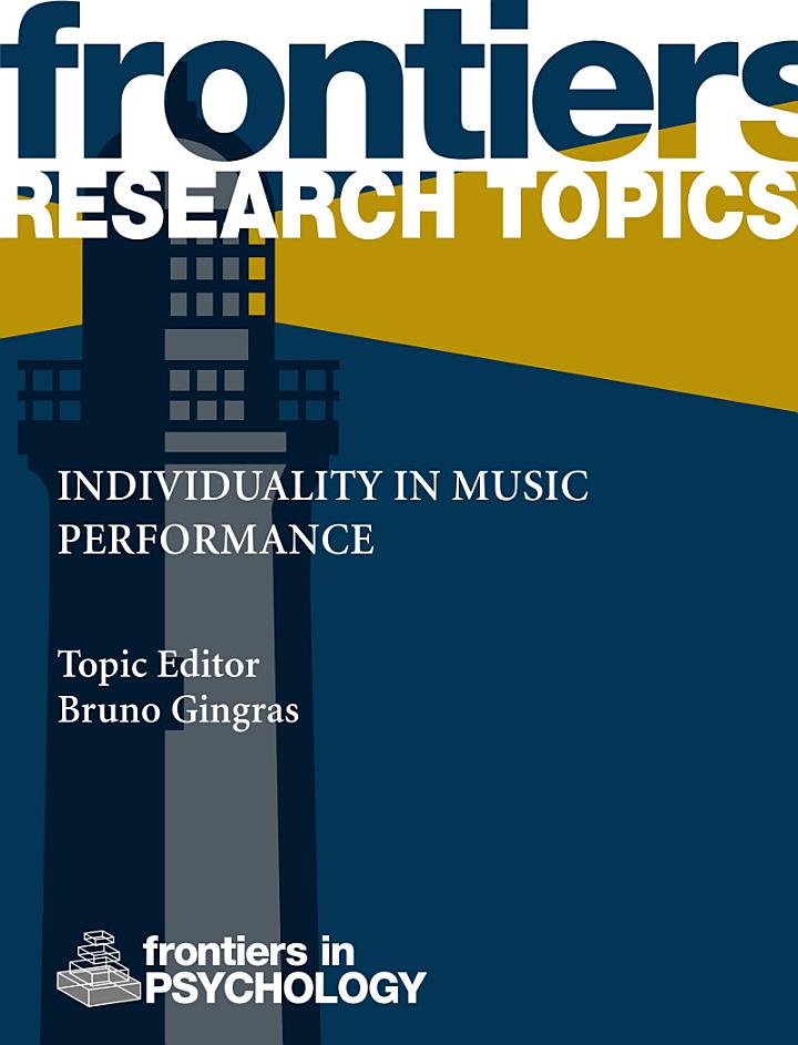 Individuality in music performance