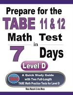 Prepare for the TABE 11 & 12 Math Test in 7 Days