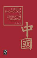 Chinese Phonology in Generative Grammar PDF