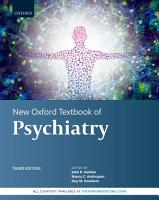 New Oxford Textbook of Psychiatry PDF