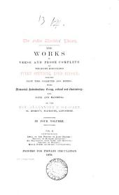 The Works in Verse and Prose Complete of the Right Honourable Fulke Greville, Lord Brooke: Essay on the poetry of Lord Brooke. Treatie of humane learning. An inqvisition vpon fame and honovr. Treatie of warres. Minor poems (hitherto uncollected)