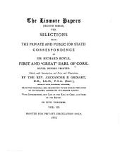 "The Lismore Papers of Richard Boyle, First and ""Great"" Earl of Cork: Volume 2, Part 3"