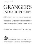 Index to Poetry--Supplement; Indexing Anthologies Published from January 1, 1951 to December 31, 1955