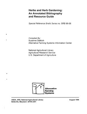 Herbs and Herb Gardening PDF