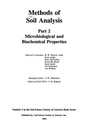 Methods of Soil Analysis  Part 2 PDF