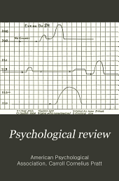 The Psychological Review: Volume 16