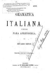 Gramática italiana, y método para aprenderla