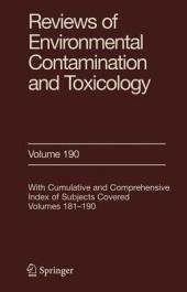 Reviews of Environmental Contamination and Toxicology 190