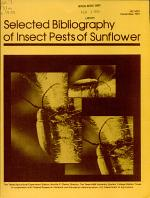 Selected Bibliography of Insect Pests of Sunflower